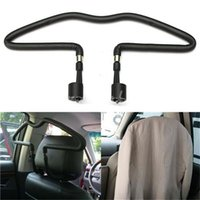 Wholesale Rubber coated Car Seat Headrest Jacket Coat Suit Clothes Hanger Holder Black