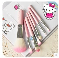 fiber hair - Professional makeup brushes Pink hair pony hair makeup tool a large fan shaped fiber brush powder brush eye shadow brush
