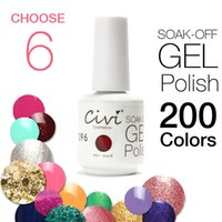 Wholesale Choose Civi UV Gel Nail Polish Soak Off UV Gel Days Long Lasting Gorgeous Colors The Best Gel Polish
