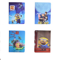 air doll - For Apple ipad mini air Table Wake Case D Despicable Me Minions Soft Silicon Cartoon Cases Back Cover Big Eye M2 Yellow Man Doll