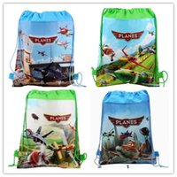 Wholesale Children s Backpack Planes Memory Drawstring Bags Waterproof Non Woven School Bag for Girls Boys Holiday Party Gift