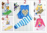 Wholesale New arrival deisgns Kids Boys Despicable me minion Pajamas Children s Cartoon Pyjamas Long Sleeve Clothing set Printed