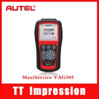 Wholesale 100 orginal Autel MaxiService VAG505 Diagnostic Tool OBDII Code Reader Clean VAG free Online Update TT Impression