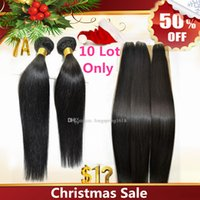 Wholesale Christmas Sale Virgin Brazilian Human Hair Extensions Unprocessed A Peruvian Malaysian Indian Remy Hair Weave Silk Straight