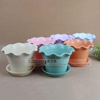 Wholesale Lotus Flower Pots Pots Desktop potted pots with bottom bracket No cm