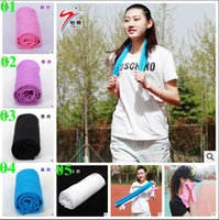Wholesale 2015 color summer Unisex Ice towel cooling ice towels Cool scarf Ice belt Cold Towel Exercise Sweat Sports Ice Cool Towel TOPB3555