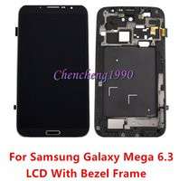 Cheap For Samsung Galaxy Mega 6.3 i9200 i9205 LCD Display Touch Screen with Digitizer + Bezel Frame Replacement Screen for samsung i9200
