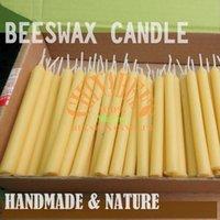 beeswax votive candles - 50pcs Handmade All Natural Beeswax Candles x1 cm Stick Votive Candles Cotton Wicks