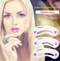 Wholesale New Eyebrow Shaping Stencil Grooming Template Women Beauty Makeup Tools Easy Use Eyebrow tools Shaping