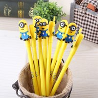 art gifs - Despicable Me Minions Gel Pens Cartoon Minion Children Kids Students Pen School Prize Supplies Stationery Christmas Gifs Pens Factory Price