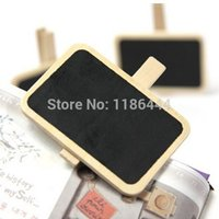 Wholesale 1PCS Wooden Blackboard Chalkboard Home School Shop Stationery Note Board hmp