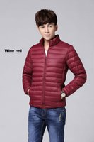Cheap Men's stand collar down jackets Best Male's ultra light duck down outerwear