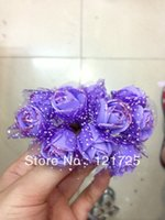 artificial sugar - foam flower with yarn with gold dust PE roses flowers sugar box accessories artificial flower