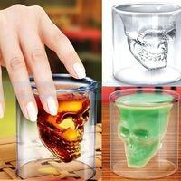 glass mug - Crystal Skull Head Vodka Shot Glass Pirate Glasses Beer Mug ounces new cup
