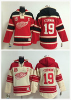 Sewing Stitch - 2016 Men Steve Yzerman Old Time Detroit Red wings Ice Hockey Hoodies Sweatshirt Jerseys Stitched sewn Numbering Lettering