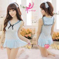 Wholesale Lingerie School Girl Princess Uniform Cosplay suit Dress Bodysuit Sex Toys SF43