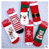 baby holiday socks - 2015 Christmas socks kids children thick warm socks kids baby boys girls clothes new year holiday socks