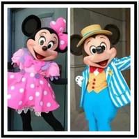 vestido de color rosa caliente de las ventas de alta calidad de la mascota de Mickey Mouse traje de la mascota de Mickey Minnie mascota de la mascota de Minnie ZJ1255
