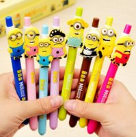 Wholesale 1pc New Cute Kawaii Cartoon Korea Gel pens Colorful Ink Stationery school supplie Creative Gift for children