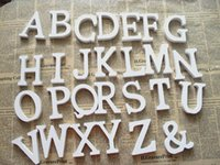 Wholesale Home Decor Decoration thick Wood Wooden White Letters Alphabet Wedding Birthday cmX10cm TY83