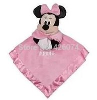 Wholesale New Original Minnie Mouse Baby Snuggle Blanket Cartoon Security Comfort Blanket D Towl Kids Sleepy Toys