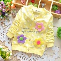 Wholesale Child Shirt Spring Flower Long Sleeve T Shirts Korean Girl Dress Children Shirts Fashion Girls Shirts Children Clothes Kids Clothing L44214