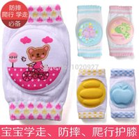 baby crawling socks - 6Pairs Baby Safety Knee Pad Kids Socks Children Short Kneepad Crawling Protector