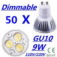 Wholesale 2015 hot sale high power CREE Dimmable High power GU10 x3W W V V LED Downlight bulb spotlight Free FEDEX and DHL