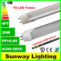 ac drivers - CE UL DLC High Bright Isolated Driver T8 LED Tube lights ft W MM SMD Light Bulb Lamps AC V led lighting