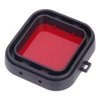 Wholesale FS Hot Polarizer Underwater Diving UV Lens Filter for GoPro Hero3 Red order lt no track