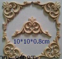 home furniture decoration - Dongyang wood carving motif wood shavings corner flower wood applique chinese style home furniture decoration