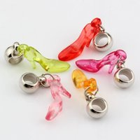 acrylic high heels - MIC Mix Color Acrylic High Heel Shoes Charm Dangle Bead Fit Charm Bracelet x36mm DIY Jewelry