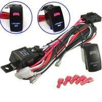 Wholesale 40A W Relay Fuse Wiring Harness LED Light Bar On Off Laser Rocker Switch