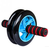 Wholesale Good Use New Style Pro Gym Ab Wheel Roller Personalized Dual Abdominal Fitness Workout Exercise Abs Wheels