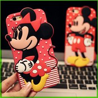 For Samsung Silicone Blue Case For Apple Iphone 5 6 6plus Cell Phone Cases For Samsung Korean Durable Shell Phone Cartoon Minnie Mickey Protective Case Covers