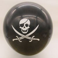 Wholesale 12inch g thickness pirate party skull latex balloon pc