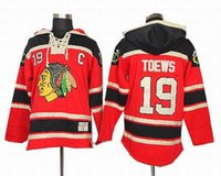 sport hoodies - Blackhawks Toews Hockey Hoodies Mens Chicago Hockey Hoodies Red Hoodies Outdoor Jacket Red American Ice Hockey Sports hoodies