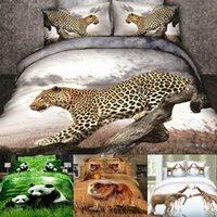 Wholesale SET D Bedding Sets Queen Size Leopard Bedclothes For Home Decor Modern Cool Wedding Duvet Cover Pillowcase Brand Reactive Coverlet