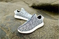Wholesale Kanye Milan West Y Boost Classic black grey women Fashion Sneaker Shoes
