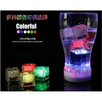 Wholesale 2015 Purchase Festival Decorations Flash Ice Cube WaterActived Flash Led Light Put Into Water Drink Flash Automatically for Wedding Bars