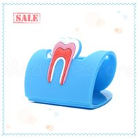 Wholesale Great Dental Culture Product Rubber Dental Clinic Tooth Business Name Card Holder Case Display Stand with