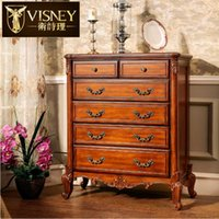 Wholesale American and European style furniture solid wood cabinet bedside cabinet ark