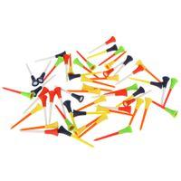 Wholesale 50pcs mm Multi Color Plastic Golf Tees Rubber Cushion Top Golf Equipment