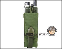 Wholesale 4 Colors Airsoft Tactical Molle D High Quality Nylon Radio Accessory Pouch Military Radio Pouch Acu Tan Multicam Olive Drab order lt no