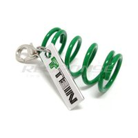 acura tech - Interior Accessories Key Rings Tein Suspension S Tech Green Spring Charm Key Chain Keychain Authentic Goods JDM