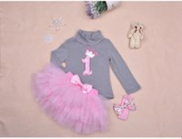 carter's baby clothing - st birthday pink dress with bow for baby girl cute baby long sleeve dresses girl carter s baby clothing set