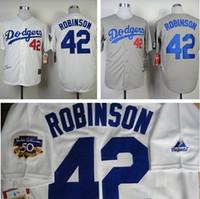 fashion baseball jerseys - New Fashion Los Angeles Dodgers Jackie Robinson Jersey Throwback M N jerseys White Cream grey black Baseball Jerseys