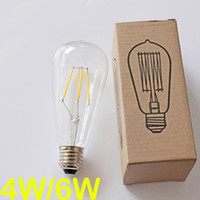 antique angle lamp - ST64 Led Filament Bulb Dimmable W W Squirrel Cage Antique Edison Lighting E27 B22 E26 Angle V V Classic Style Decorative Lamps