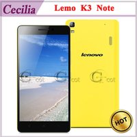 Wholesale 4G LTE Android Cell Phone Lenovo Lemo K3 NOTE MTK6752 Octa Core inch FHD IPS G G MP Camera GHz Android Smartphones