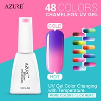 uv gel nail polish - 2015 Azure nail gel UV make up changing color with temperature nail gel polish chameleon totally colors